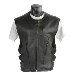 Bulletproof Style Cowhide Leather Vest MV904