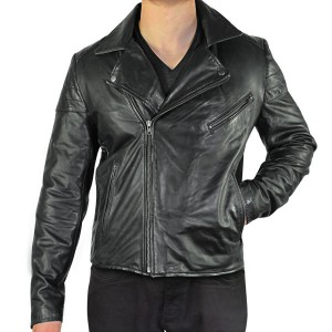 Xelement Mens Black Classic Casual Leather Jacket SFT-00185
