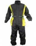 Xelement Mens 2 Piece Black and Yellow Motorcycle Rainsuit RN4782