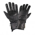 Men's Black Leather Premium Padded Riding Gloves XG451