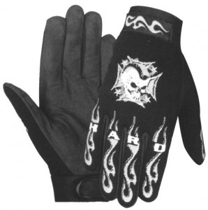 Men's Hardqacore Mohawk Mechanic Skull Gloves XG-446-07