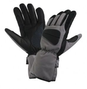 Mens Black and Grey Tri-Tex? Padded/Waterproof Gloves XG-253