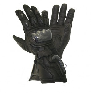 Xelement Motorcycle Black Carbon Gloves XG-441