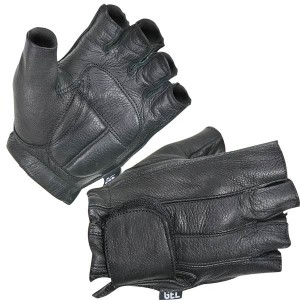Xelement XG-850 Fingerless Deerskin Motorcycle Gloves XG-850