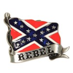 Wavy Rebel Flag Buckle BU-248
