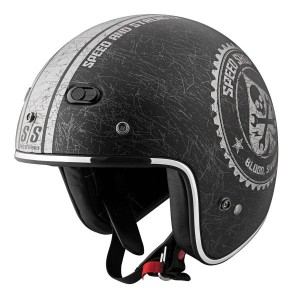 Speed and Strength SS600 Speed Shop Black/Silver Open Face Helmet