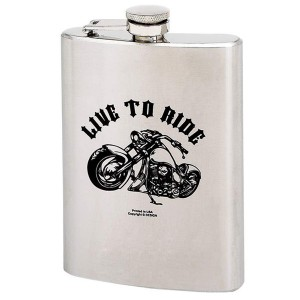 LIVE TO RIDE 8 oz. Stainless Steel Flask KTFLASK8LTR