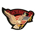Eagle Live To Ride With Eagle Patch PT8448