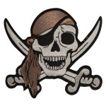 Skull With Crossing Sword Patch PT8409