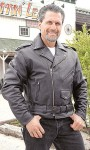 Jamin' Antique Classic Leather Motorcycle Jacket MA110Z
