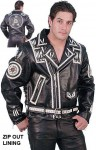 Naked Leather Motorcycle Jacket with Indian Beading M3021LBNK-04