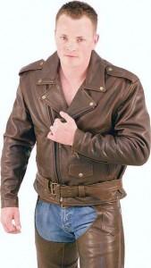 Retro Dark Brown Leather Jacket M720ZRN