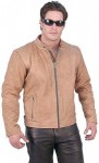 Light Brown Leather Jacket - Scooter M510ZN