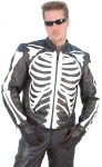 Skeleton Leather Motorcycle Jacket M742SK