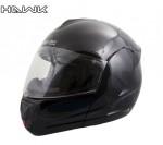 Hawk H6600 Gloss Black Dual Visor Full Face Motorcycle Helmet