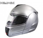Hawk H6630 Grey Dual Visor Full Face Motorcycle Helmet