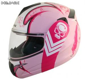 Advanced Hawk Pink Queen Dual Visor Full Face Motorcycle Helmet H6650