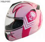 Advanced Hawk Pink Queen Dual Visor Full Face Motorcycle Helmet H6650