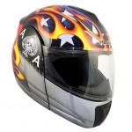 Hawk Ace Skull Modular Dual Visor Full Face Motorcycle Helmet H6635