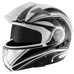 Hawk GLD-901 Balance White/Black Modular Helmet
