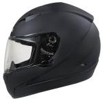 HAWK Matte Black Dual-Visor Motorcycle Helmet AP-990