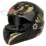 Hawk Aviator Skull Advance Dual Visor Modular Helmet with Bluetooth H6609