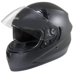Hawk ST-1150 Matte Black Dual-Visor Full-Face Motorcycle Helmet