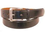 1 1/4 Inch Black Leather Dress Belt BT075K