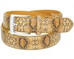 Tan Snake Skin Leather Belt  BT044NSNAK