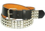 Triple Row Pyramid Studded Belt BT555PYS