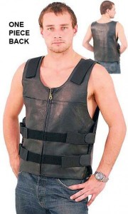 Black Police Safety Vest with Front Zipper VM945ZK