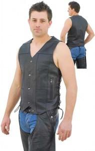 Economy 10 Pocket Leather Vest - Special VM630SP