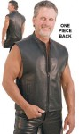 Front Zip Leather Vest with Full Back for Patches VM656NK