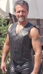 Heavy Leather Motorcycle Vest VM802K