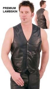 Lambskin Leather Vest VM418K