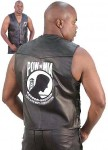 Leather Vest with POW MIA Logo VM248POW