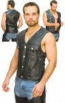 Long Gun Pocket Club Vest with Buffalo Nickle Snaps VM2602BUFF