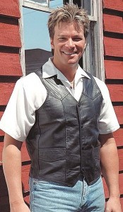 Mens Classic Lambskin Western Leather Vest VML01