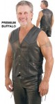 Mens Leather Vest with Side Lacing VM803LK