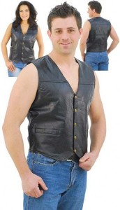 Patch Leather Vest VM551P