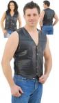 Patch Leather Vest VM551P