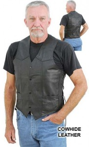 Side Lace Leather Vest-Special VM401LSP