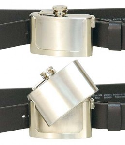 3 oz Flask Belt Buckle-Removable Flask BU358FLASK