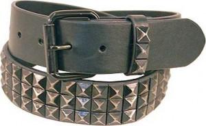 Antiqued Black Pyramid Belt BT4048PYK