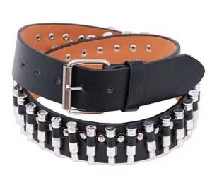 Black Leather Economy Bullet Belt BT11BUL