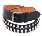 Black Leather Economy Bullet Belt BT11BUL