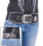 Black Rhinestone Crystal and Stud Western Belt BT1217CK