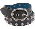 Black Vintage Studded Leather Belt BT4031SK