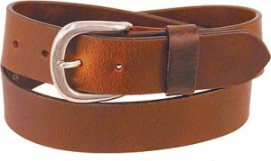 Brown Oil Tanned Heavy Leather Belt BT208N
