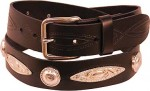 Concho Plate Leather Belt BTCP2
